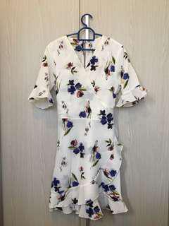 MGP Floral Wrap Dress