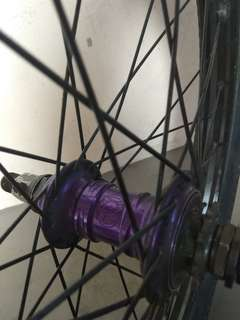 Rear wheelset with profile mini hub and alienation rims