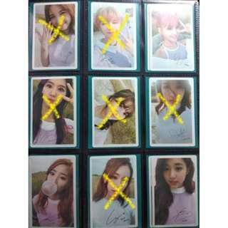 KPOP TWICE ALBUM PHOTOCARDS SPARES MOMO, DAHYUN, TZUYU MEGA LIST