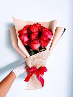 #059 Roses in Kraft