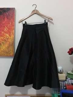 [FOREVER 21] Contemporary Black Full Length Circle Skirt Long NWOT XS 6