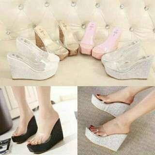 Sandal Wedges Cantik 11050