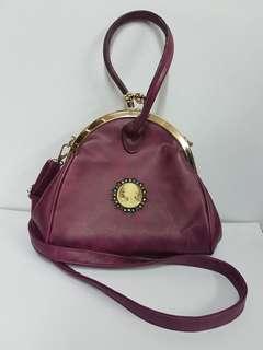 Pink Cameo Sling Bag