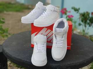 Nike airforce couple highcut all-white (sizes available)