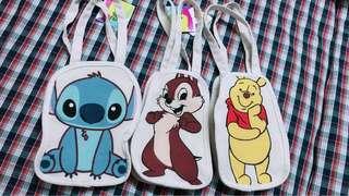 🚚 「星際寶貝」史迪奇、小熊維尼、奇奇蒂蒂 人物造型飲料袋 提袋 杯袋 水壺袋