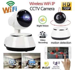 New Ready Stock Wifi IP Mini Security Camera Link to Phone App - Night Video, 2 Way Audio, Recording