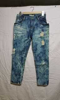 🚚 牛仔破褲 韓國製造 200含運便宜釋出 近全新