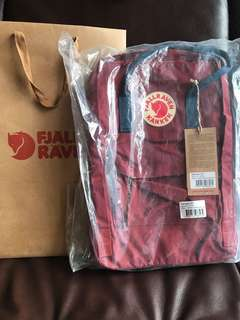 [全新未開封] Fjallraven Kanken Laptop 15 inch (Ox Red-Royal Blue)