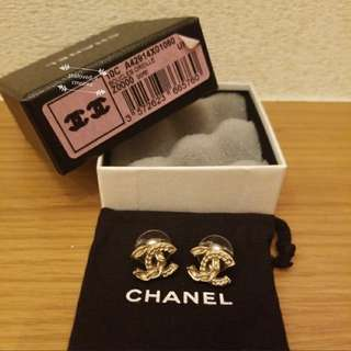 Chanel 耳環 stud earrings