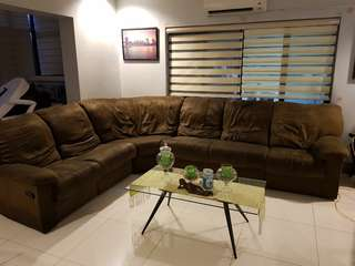 🔥RUSH SALE 3 pcs Lazy Boy suede Brown Couch