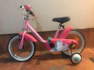 Kids Bicycle with trainers and FREE helmet, knee and elbow pads