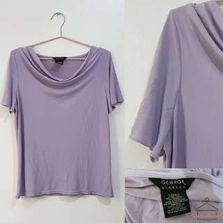 George Polyester Plunging Neckline Top