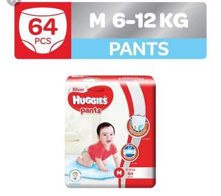 Brand new Huggies Silver Pants M -64pcs