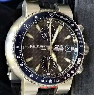 Limited Edition Oris William F1 Chrono Automatic 42mm Titanium Full Set (Year 2003)