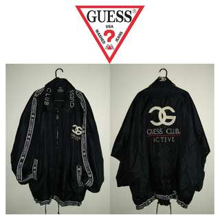 VINTAGE GUESS ACTIVE CLUB FULL TAPED ZIPPER JACKET