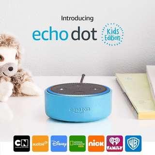 NEW Amazon Echo Dot Kids Edition - Blue