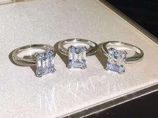 HW Tiffany 公主方鑽石水晶戎指 RING