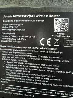 Aztech router singtel dual band gigabit
