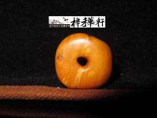 【滿蜜】藏傳百年老蜜蠟滿蜜餅子念珠一枚
