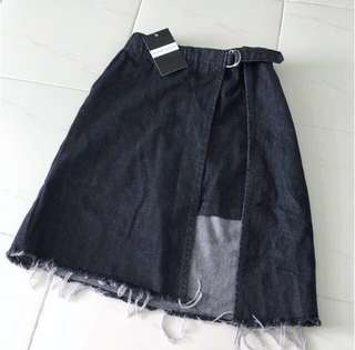BNWT Ulzzang Denim Buckle Skirt