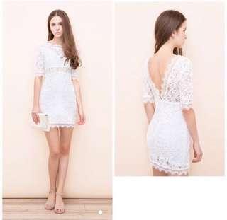 Air space 白蕾絲洋裝