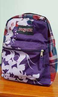 Jansport Backpack (Purple Butterfly)