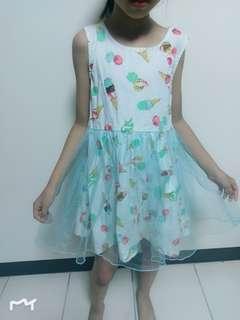 🚚 淺綠冰淇淋洋裝