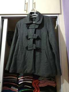 Forever 21 Thick Gray Duffle Coat