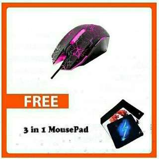 M-110 Gaming Mouse Bundle Set Free X9 Mouse Pad