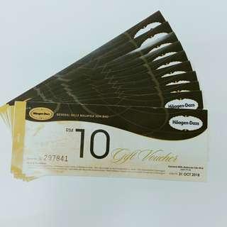 Häagen Dazs voucher value RM70