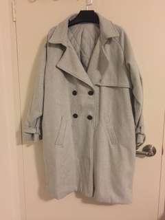 Thick grey coat