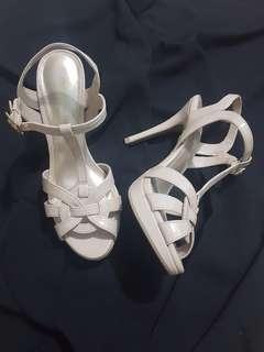Christian Siriano beige heels (Payless)