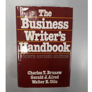 The Business Writer's Handbook (Hardcover Book)