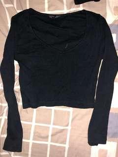 Topshop long sleeves crop top