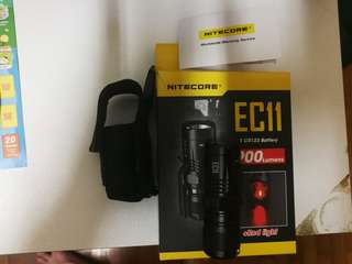 Nitecore ec11 torch with nitecore battery