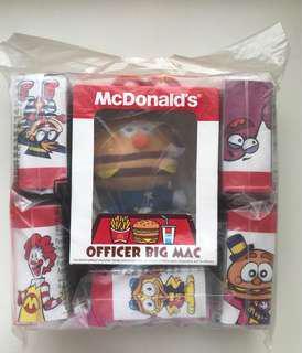 全新 麥當勞 McDonald's Officer Big Mac 限量版 毛公仔 掛飾 一套6個
