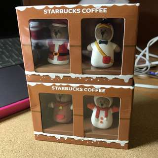 🚚 Singapore Starbucks Key Chain Set