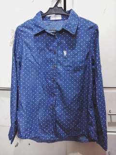Small Blue Button-up Bayo Long Sleeves