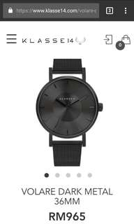Klasse14 volare dark metal watches