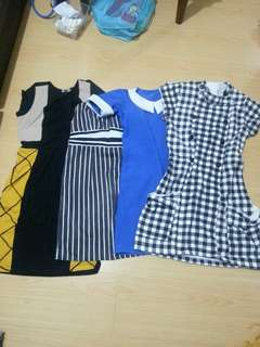 4 dresses for 100php!
