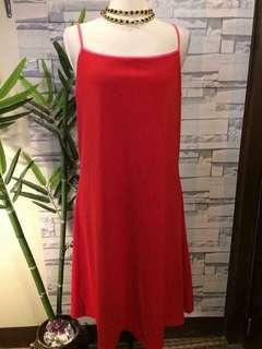 Isaac Mizrahi red dress
