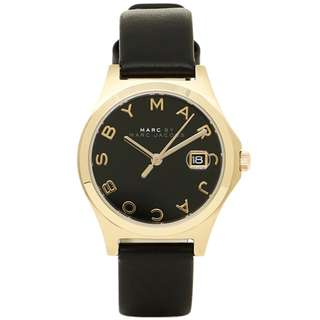 🚚 [Must Go] MARC BY MARC JACOBS MBM1374 Black Dial Black Leather Strap Ladies Watch