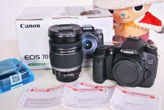 CANON DIGITAL SLR CAMERA WITH KIT LENS EOS 70D Kit III (EF-S18-200 IS)  100% Brand New!