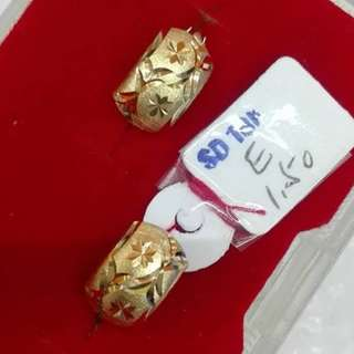 18K SAUDI GOLD CLIP EARRING '...