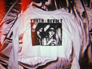Youth revolt white crop top f21