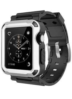 Simpeak Rugged Case for Apple watch 42mm (3 colors set) - Silver/Black /Grey