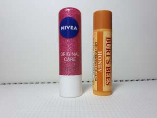 Lip Balm (Nivea, Burt's bees, Kiehl's)