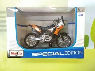 Maisto 1:18 KTM 450 Rally Diecast Motorcycle Car 電單車 車仔