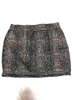 F21 leopard print skirt Large