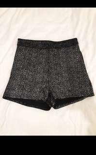 Metallic High-waisted Shorts